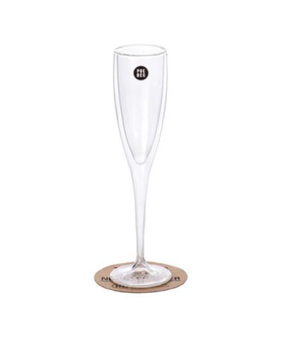 PUEBCO / DOUBLE WALL CHAMPAGNE GLASS