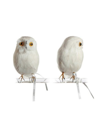 PUEBCO / ARTIFICIAL BIRDS Owl - White - S