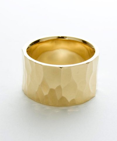 GARNI / K10 Crack Square Ring-L