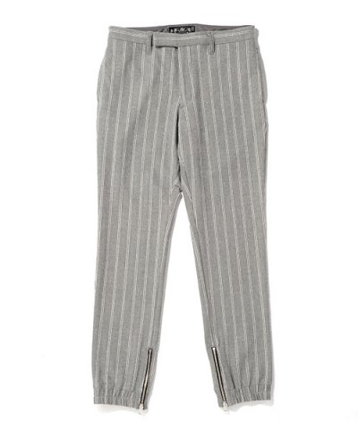 BAL / STRIPE RIBBED ZIP PANT