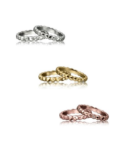 GARNI Love Rings / Rock Studs Round Rings