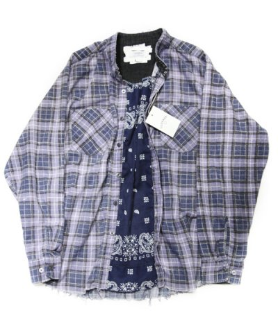 Old Park / PULLOVER SHIRT-FLANNEL-