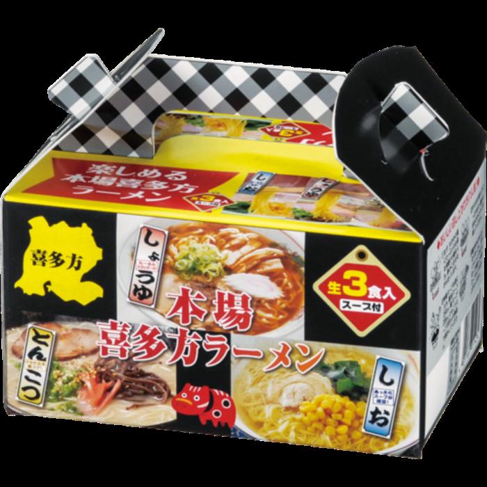 本場喜多方ラーメン3つの味食べ比べ☆30箱入り
