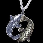【龍頭】<br />夫婦鯉ペンダントトップ<br />- メンズ ペンダント -