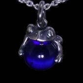 【龍頭】<br />蛙玉ペンダントトップ<br>(Cobalt  Glass)<br />- メンズ ペンダント -