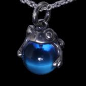 【龍頭】<br />蛙玉ペンダントトップ<br> (Blue glass)<br />- メンズ ペンダント -