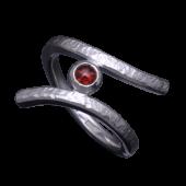【龍頭】<br>岩石鎚目リング<br />ガーネット<br />- メンズ 指輪 リング -
