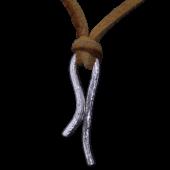 【龍頭】<br>岩石鎚目ペンダントトップ<br />革紐付き<br />- メンズ ペンダント -