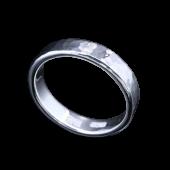 【龍頭】<br>丸鎚目リング 幅5mm<br />- メンズ 指輪 リング -