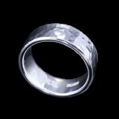 【龍頭】<br>丸鎚目リング 幅8mm<br />- メンズ 指輪 リング -