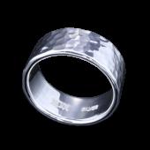 【龍頭】<br>丸鎚目リング 幅10mm<br />- メンズ 指輪 リング -