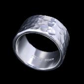 【龍頭】<br>丸鎚目リング 幅12mm<br />- メンズ 指輪 リング -