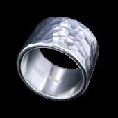 【龍頭】<br>丸鎚目リング 幅15mm<br />- メンズ 指輪 リング -