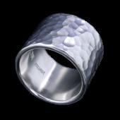 【龍頭】<br>丸鎚目リング 幅17mm<br />- メンズ 指輪 リング -