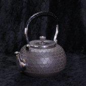 純銀 5寸 霰湯沸