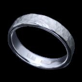 【龍頭】<br>岩石丸鎚目リング 幅5mm<br />- メンズ 指輪 リング -