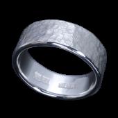 【龍頭】<br />岩石丸鎚目リング 幅8mm<br />- メンズ 指輪 リング -