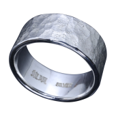 【龍頭】<br />岩石丸鎚目リング 幅10mm<br />- メンズ 指輪 リング -