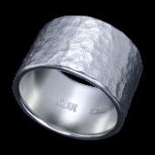 【龍頭】<br>岩石丸鎚目リング 幅15mm<br />- メンズ 指輪 リング -