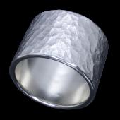 【龍頭】<br>岩石丸鎚目リング 幅17mm<br />- メンズ 指輪 リング -