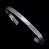 【龍頭】<br />岩石丸鎚目バングル 5mm<br />- メンズ バングル -