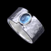 【龍頭】<br>丸鎚目リング 石付き 幅12mm<br />- メンズ 指輪 リング -