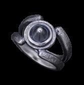 【龍頭】<br>岩石リング<br />(霰スタッズ)<br />- メンズ 指輪 リング -