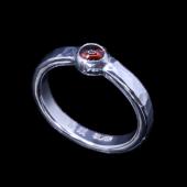 【龍頭】<br>丸鎚目リング 石付き 幅3mm<br />- メンズ 指輪 リング -