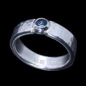【龍頭】<br>丸鎚目リング 幅5mm<br>ブルートパーズ<br />- メンズ 指輪 リング -