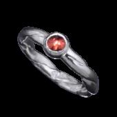 【龍頭】<br>甲丸ツイストリング 石付き<br />- メンズ 指輪 リング -