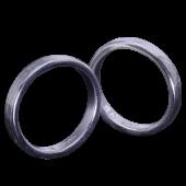【龍頭】<br>丸鎚目×チリ目鎚目リング<br>二連 幅3mm×2<br />- メンズ 指輪 リング -