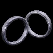 【龍頭】<br>丸鎚目×岩石丸鎚目リング<br>二連 幅3mm×2<br />- メンズ 指輪 リング -