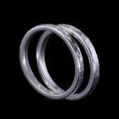 【龍頭】<br />丸鎚目リング<br>二連 幅2mm<br />- メンズ 指輪 リング -