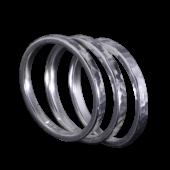【龍頭】<br />丸鎚目リング<br>三連 幅2mm<br />- メンズ 指輪 リング -