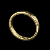 【龍頭】<br>K18 丸鎚目リング 幅3mm<br />- メンズ 指輪 リング -