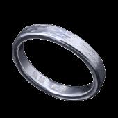 【龍頭】<br>チリ目鎚目リング 幅3mm<br />- メンズ 指輪 リング -