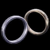【龍頭】<br>K18 丸鎚目×丸鎚目リング<br>二連 幅3mm×2<br />- メンズ 指輪 リング -
