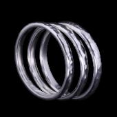 【龍頭】<br />甲丸丸鎚目リング<br>三連 幅2mm<br />- メンズ 指輪 リング -