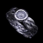 【龍頭】<br>ツイストダブルリング <br>(菊スタンプ)<br />- メンズ 指輪 リング -