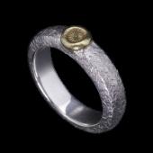 【龍頭】<br>甲丸岩石菊リング <br />- メンズ 指輪 リング -