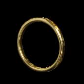 【龍頭】<br>K18 丸鎚目リング 幅2mm<br />- メンズ 指輪 リング -