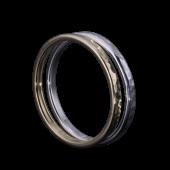 【龍頭】<br>K18 丸鎚目リング<br>幅2mm / 2mm×1<br />- メンズ 指輪 リング -