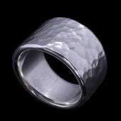 【龍頭】<br>丸鎚目リング<br>幅17mm/12mm<br />- メンズ 指輪 リング -