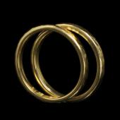 【龍頭】<br>K18 丸鎚目リング<br>幅2mm / 2mm<br />- メンズ 指輪 リング -