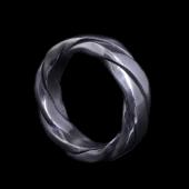 【龍頭】<br>ツイストリング<br />- メンズ 指輪 リング -