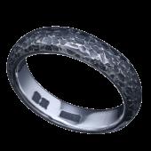 【龍頭】<br />甲丸籠目鎚目リング<br />- メンズ 指輪 リング -