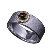 【龍頭】<br>岩石鎚目リング 金縄<br>- メンズ 指輪 リング -