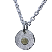 【龍頭】<br />岩石菊メタルペンダントトップ<br />菊:真鍮<br />- メンズ ペンダント -