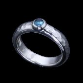 【龍頭】<br>甲丸丸鎚目リング<br />幅5mm 石付<br />- メンズ 指輪 リング -