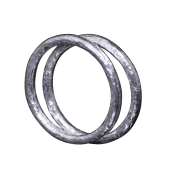 【龍頭】<br>ラウンド岩石鎚目リング<br />2mm 2連<br />- メンズ 指輪 リング -